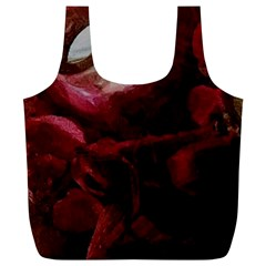 Dark Red Candlelight Candles Full Print Recycle Bags (L)