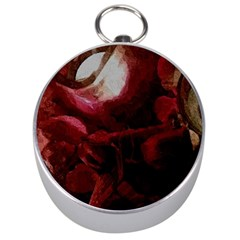 Dark Red Candlelight Candles Silver Compasses