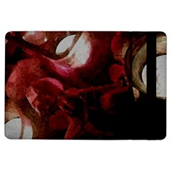 Dark Red Candlelight Candles iPad Air Flip