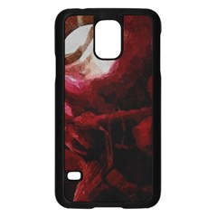 Dark Red Candlelight Candles Samsung Galaxy S5 Case (Black)