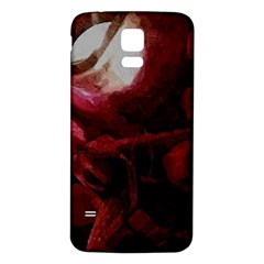 Dark Red Candlelight Candles Samsung Galaxy S5 Back Case (White)