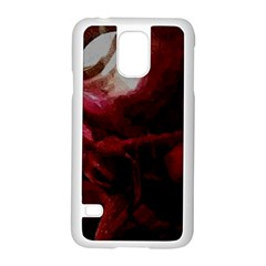 Dark Red Candlelight Candles Samsung Galaxy S5 Case (White)