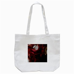 Dark Red Candlelight Candles Tote Bag (White)
