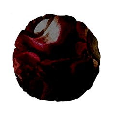 Dark Red Candlelight Candles Standard 15  Premium Flano Round Cushions