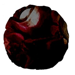 Dark Red Candlelight Candles Large 18  Premium Flano Round Cushions