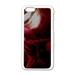 Dark Red Candlelight Candles Apple iPhone 6/6S White Enamel Case