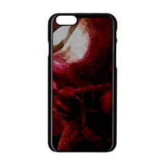 Dark Red Candlelight Candles Apple iPhone 6/6S Black Enamel Case