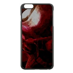 Dark Red Candlelight Candles Apple iPhone 6 Plus/6S Plus Black Enamel Case