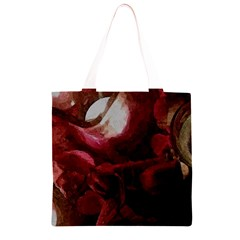 Dark Red Candlelight Candles Grocery Light Tote Bag