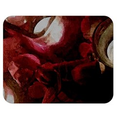 Dark Red Candlelight Candles Double Sided Flano Blanket (Medium)
