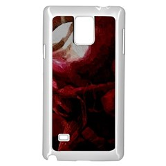 Dark Red Candlelight Candles Samsung Galaxy Note 4 Case (White)