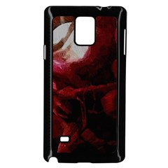 Dark Red Candlelight Candles Samsung Galaxy Note 4 Case (Black)