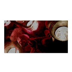 Dark Red Candlelight Candles Satin Wrap