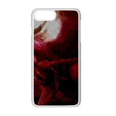 Dark Red Candlelight Candles Apple Iphone 7 Plus White Seamless Case