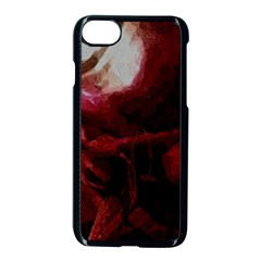 Dark Red Candlelight Candles Apple Iphone 7 Seamless Case (black)