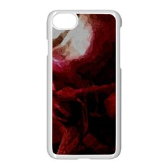 Dark Red Candlelight Candles Apple iPhone 7 Seamless Case (White)
