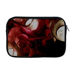 Dark Red Candlelight Candles Apple Macbook Pro 17  Zipper Case