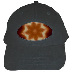 Christmas Flower Star Light Kaleidoscopic Design Black Cap