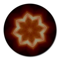 Christmas Flower Star Light Kaleidoscopic Design Round Mousepads