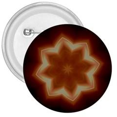 Christmas Flower Star Light Kaleidoscopic Design 3  Buttons