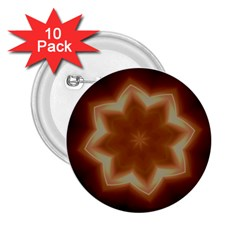 Christmas Flower Star Light Kaleidoscopic Design 2.25  Buttons (10 pack)