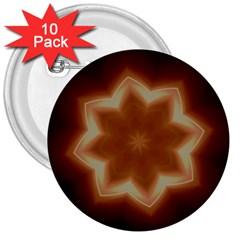 Christmas Flower Star Light Kaleidoscopic Design 3  Buttons (10 pack)