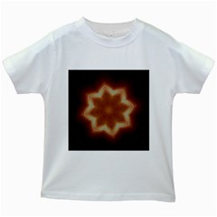 Christmas Flower Star Light Kaleidoscopic Design Kids White T-Shirts