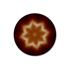 Christmas Flower Star Light Kaleidoscopic Design Magnet 3  (Round)