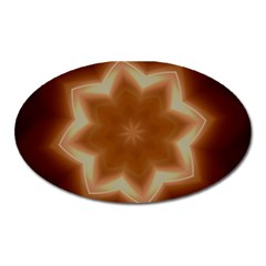 Christmas Flower Star Light Kaleidoscopic Design Oval Magnet