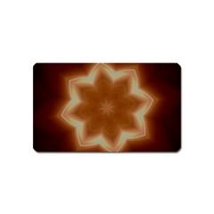 Christmas Flower Star Light Kaleidoscopic Design Magnet (Name Card)