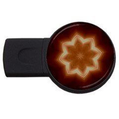 Christmas Flower Star Light Kaleidoscopic Design USB Flash Drive Round (1 GB)