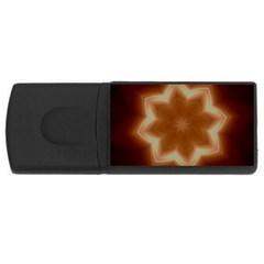 Christmas Flower Star Light Kaleidoscopic Design USB Flash Drive Rectangular (1 GB)