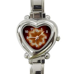 Christmas Flower Star Light Kaleidoscopic Design Heart Italian Charm Watch