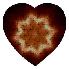 Christmas Flower Star Light Kaleidoscopic Design Jigsaw Puzzle (Heart)