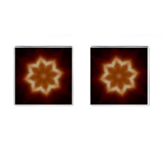 Christmas Flower Star Light Kaleidoscopic Design Cufflinks (Square)