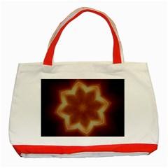 Christmas Flower Star Light Kaleidoscopic Design Classic Tote Bag (Red)