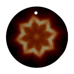 Christmas Flower Star Light Kaleidoscopic Design Round Ornament (Two Sides)