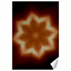Christmas Flower Star Light Kaleidoscopic Design Canvas 12  x 18