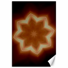 Christmas Flower Star Light Kaleidoscopic Design Canvas 24  x 36