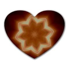 Christmas Flower Star Light Kaleidoscopic Design Heart Mousepads