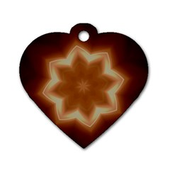 Christmas Flower Star Light Kaleidoscopic Design Dog Tag Heart (Two Sides)