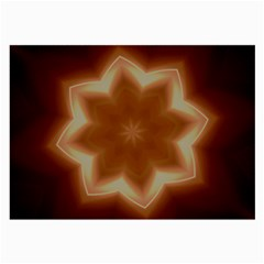 Christmas Flower Star Light Kaleidoscopic Design Large Glasses Cloth