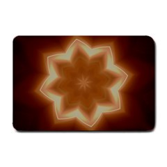 Christmas Flower Star Light Kaleidoscopic Design Small Doormat