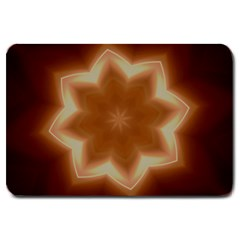 Christmas Flower Star Light Kaleidoscopic Design Large Doormat