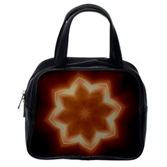 Christmas Flower Star Light Kaleidoscopic Design Classic Handbags (One Side)