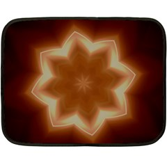 Christmas Flower Star Light Kaleidoscopic Design Double Sided Fleece Blanket (Mini)