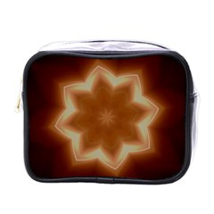 Christmas Flower Star Light Kaleidoscopic Design Mini Toiletries Bags