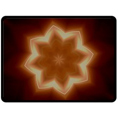 Christmas Flower Star Light Kaleidoscopic Design Fleece Blanket (Large)