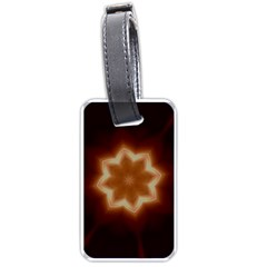 Christmas Flower Star Light Kaleidoscopic Design Luggage Tags (Two Sides)