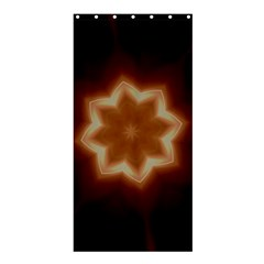 Christmas Flower Star Light Kaleidoscopic Design Shower Curtain 36  x 72  (Stall)